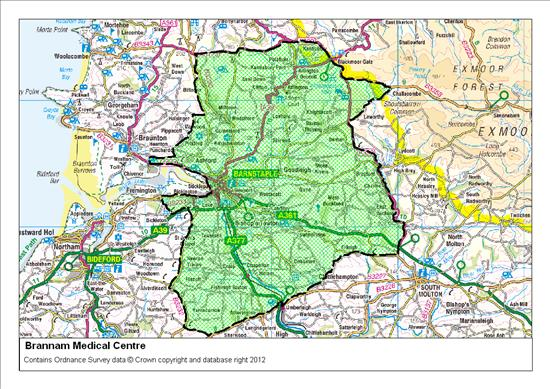 Brannam Medical Centre Catchment Area